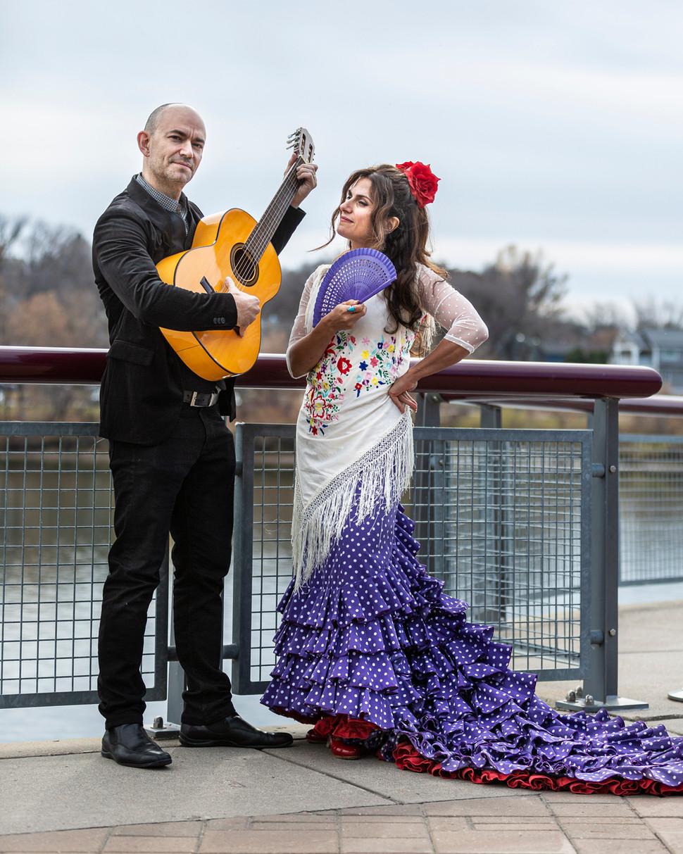 Flamenco Borealis guitarist and dancer