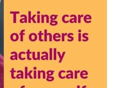 «Prendre soin des autres c'est à présent prendre soin de soi!»: