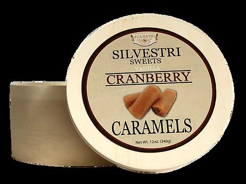 Vanilla Cranberry Caramels - 12 oz. Container