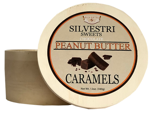 Chocolate Peanut Butter Caramels - 12 oz. Container