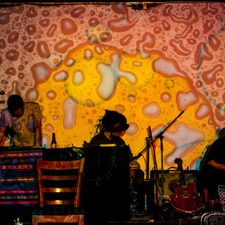 Animatism Sound System performing live with liquid light visuals by Matsu GSPF 2014