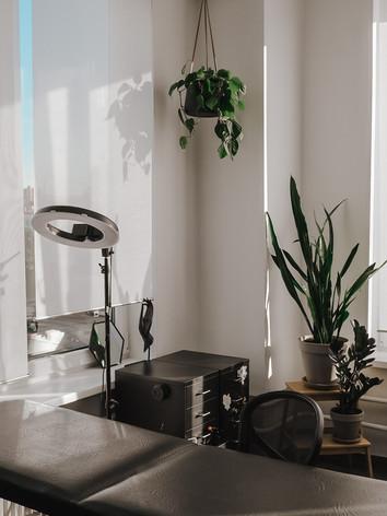 Для подвесных растений также были заказаны стильные подвесные кашпо из файбергласса