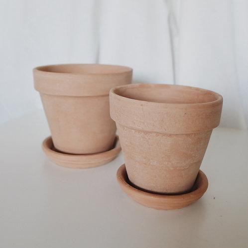 Кремовые глиняные горшки ITALY