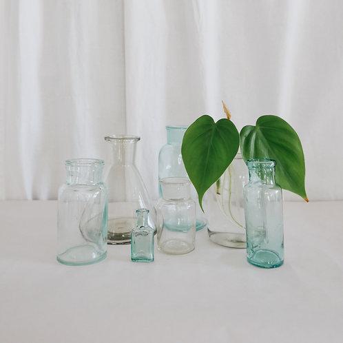 Винтажные стеклянные бутылочки