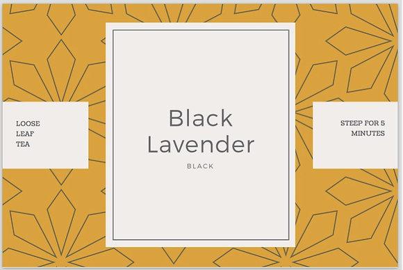 black lavender tea