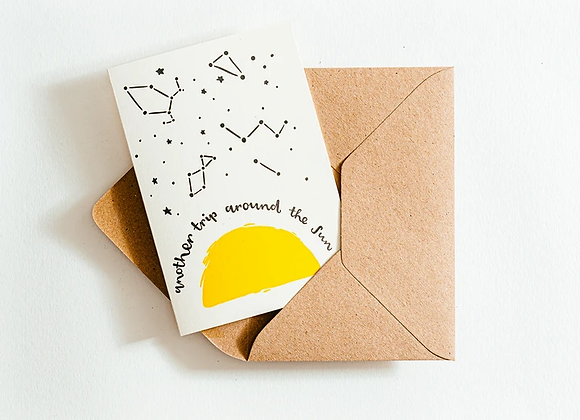 'Another trip around the sun' Card