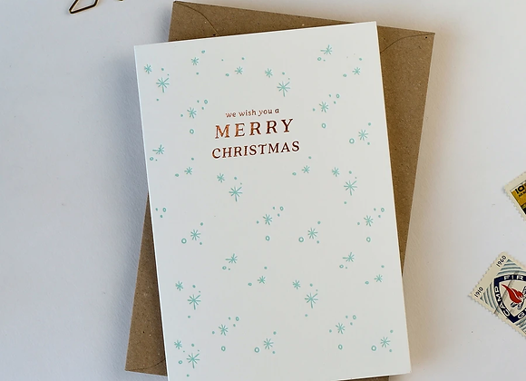 'We wish you a Merry Christmas' Card