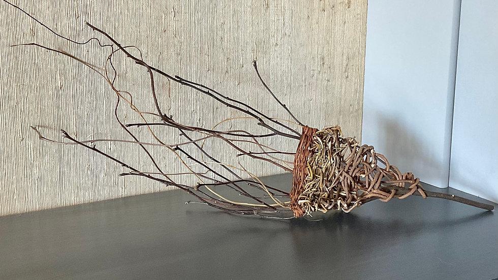 Sculptural Basket with Mixed Materials