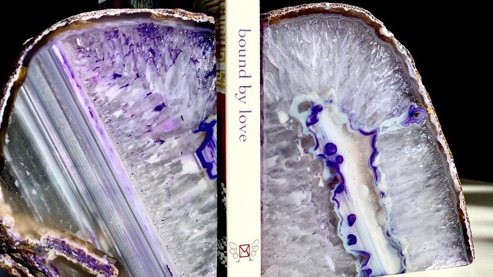 Purple Agate Book End