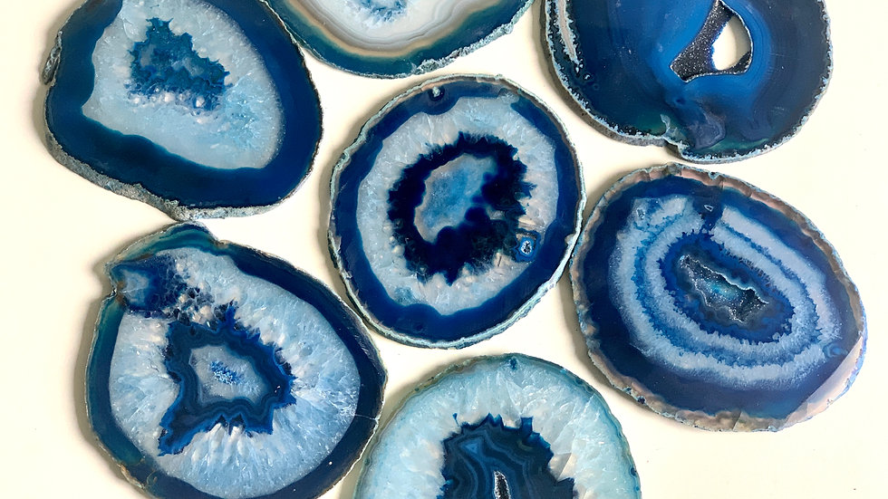 Agate Slices - BLUE