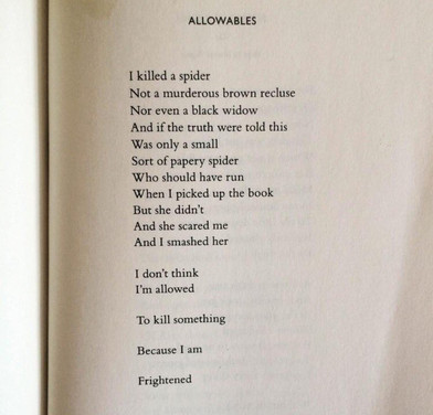 ALLOWABLES  by nikki giovanni.