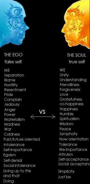 THE EGO VS THE SOUL