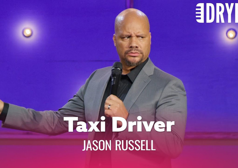 """DRY BAR COMEDY Clip   """"Nothing Is Scarier Than A One Armed Taxi Driver.""""   JASON RUSSELL"""