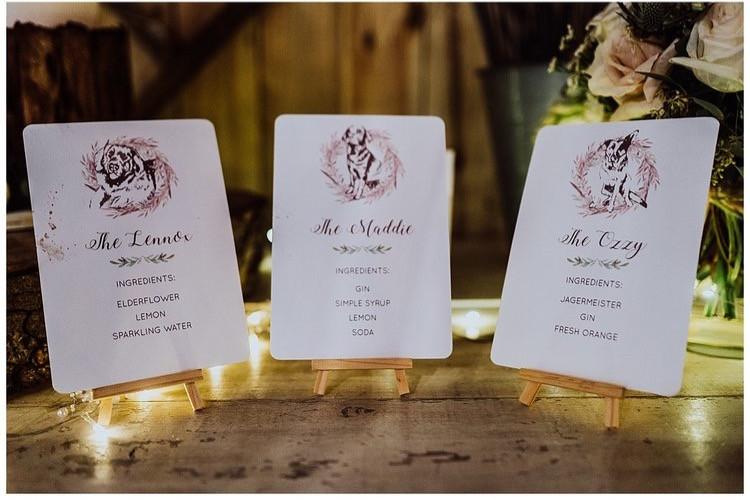 Doggy cocktails at Alcumlow Wedding Barn