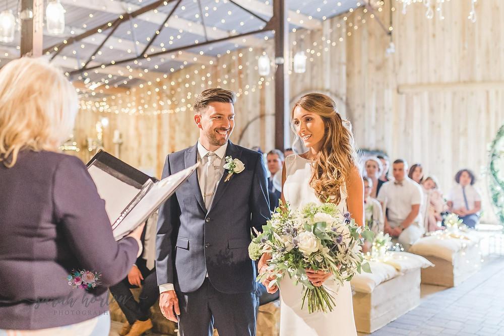 Wedding Ceremony at ALcumlow Wedding Barn