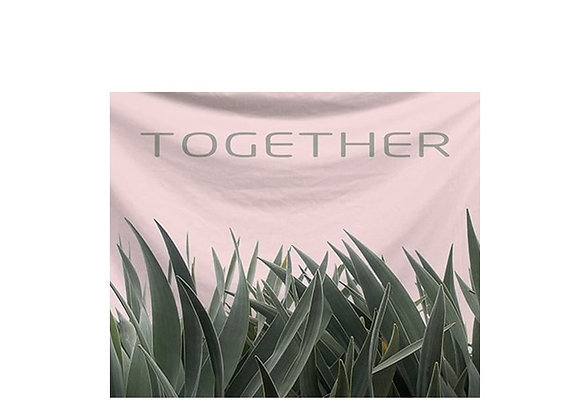 Trendy cute greenery pink tapestry Nordic home decor teens dorms affordable free shipping