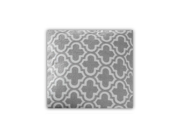 Grey Embroidery Cushion