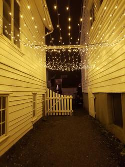 Christmaslighting Gjestfrie hus