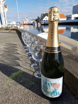 Champagne at the pier