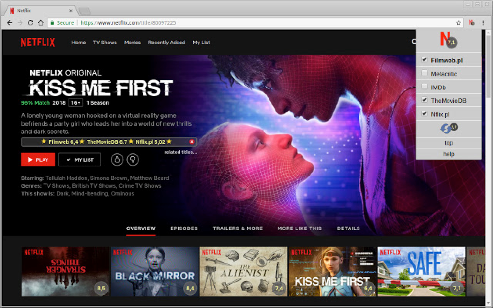 Netflix Rate Chrome Extension