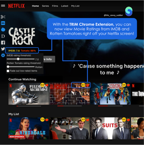 Trim Netflix Rating Google Chrome Extension