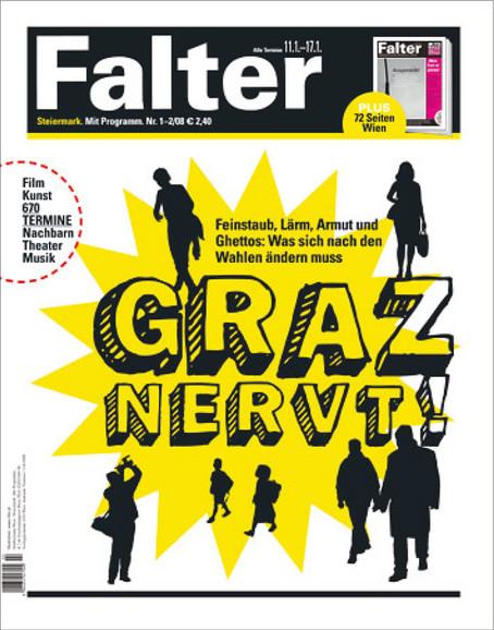 Falter Zeitung Coverdesign