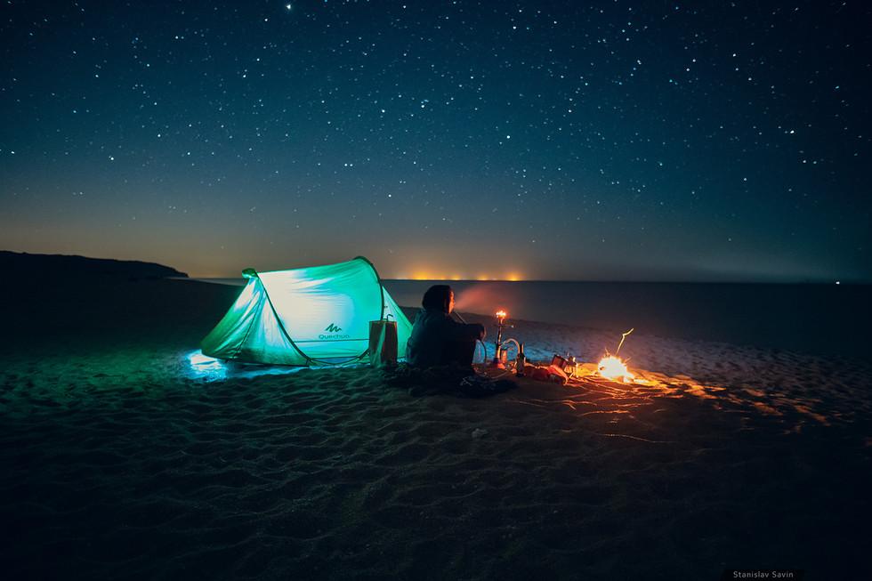Ночёвка на пляже