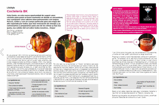 Nota sobre coctelería by Rodrigo Mulet para BK Mag #64.