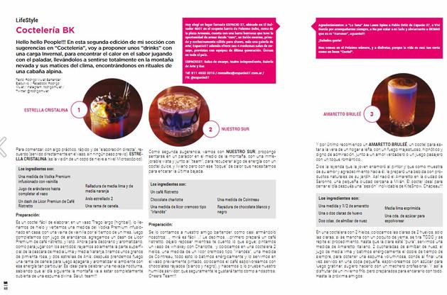 Nota sobre coctelería by Rodrigo Mulet para BK Mag #63.