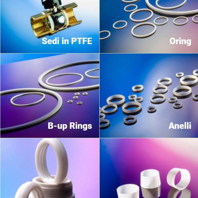 Gaxetas, O-Ring, BackUp, Aneis, em PTFE e outros materiais tecnicos /Pagnoni