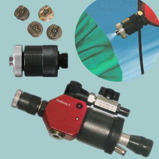 Pistola para injetar massa liquida de polimento e cabeçote de troca rapida OW