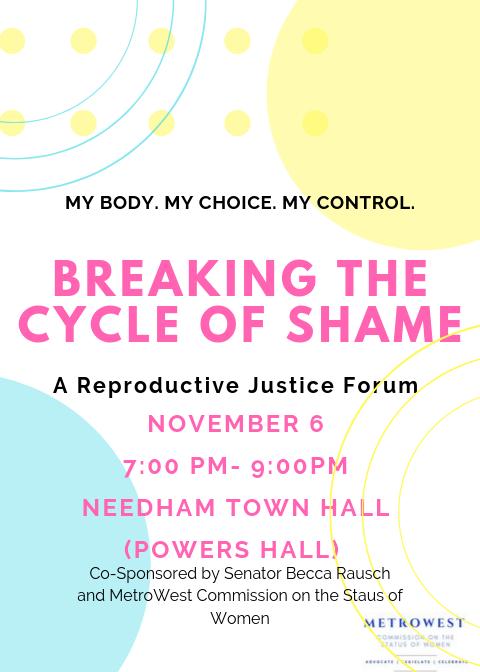 Needham Reproductive Justice Forum November 6 2019