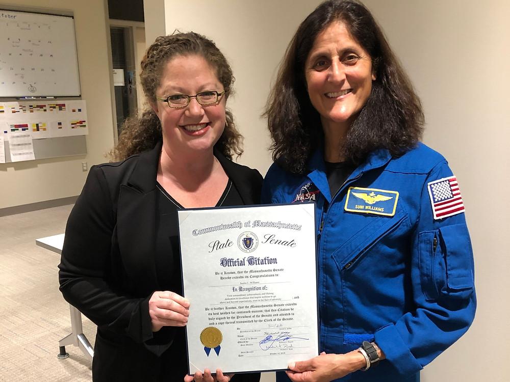 Senator Becca Rausch with Astronaut Sunita Williams