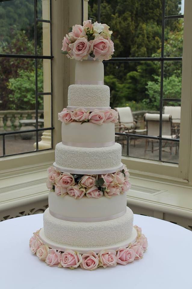 Six tier elegance Wedding Cake