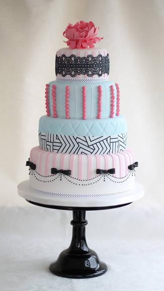 Eclectic Wedding Cake