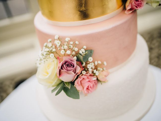 Pink and gold close up