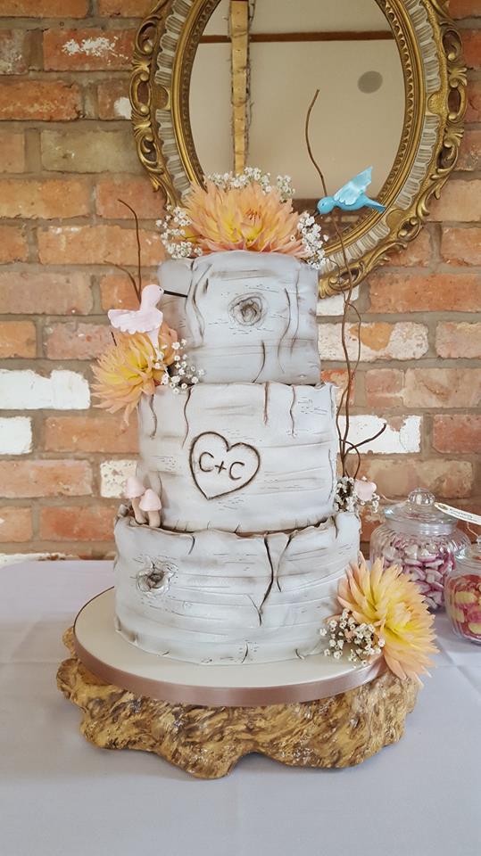 Log Slices Wedding Cake
