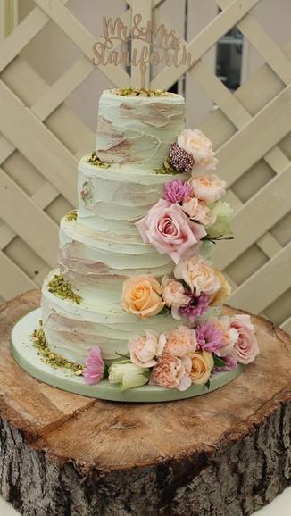 Rustic Buttercream Wedding Cake
