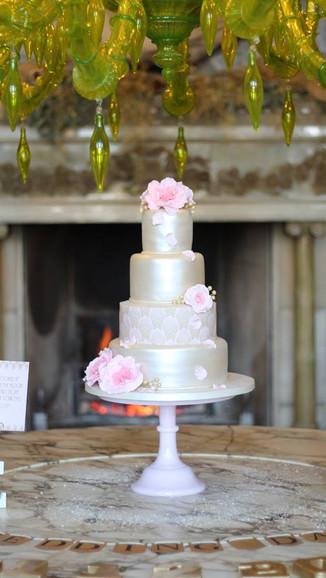 Pink Shimmer Wedding Cake
