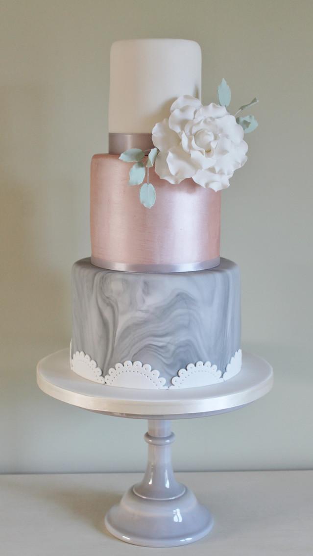 Grey & Pink Marble