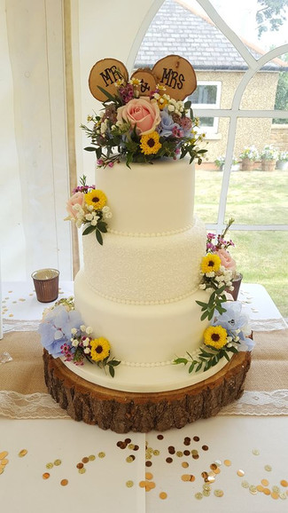 Iced Three tier Wedding Cake