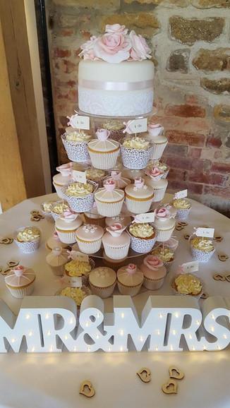 Cupcake Tower Wedding Cake