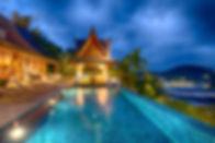 25-Baan Surin Sawan - Pool view at night