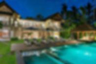 2. Seseh Beach Villa II - The villa lit