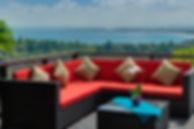 23-Villa Aiko - Outdoor sofa with view t