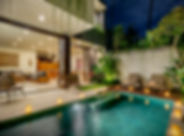 Villa Amelia - Pool, living and dining a