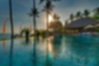 02-Taman Ahimsa - View across pool at su