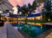 27-Villa San - Pool and villa at dusk 2.