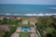 16. Seseh Beach Villa I - Garden view to