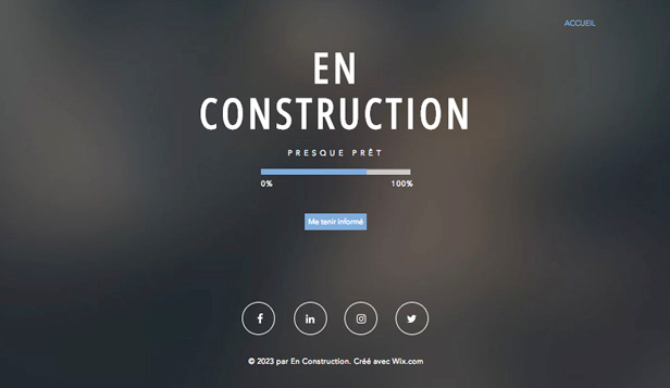 Populaires website templates – Site en construction